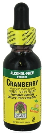 DROPPED: Nature's Answer - Cranberry Alcohol Free - 1 oz. CLEARANCE PRICED