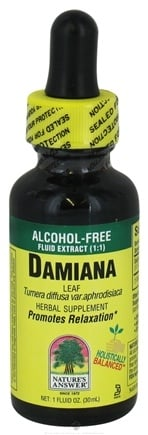 DROPPED: Nature's Answer - Damiana Leaves Alcohol Free - 1 oz. CLEARANCE PRICED