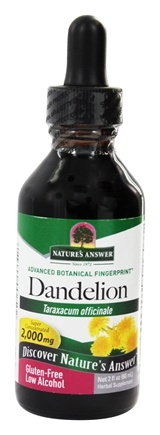 Nature's Answer - Dandelion Root Organic Alcohol - 2 oz.