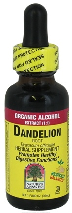 DROPPED: Nature's Answer - Dandelion Root Organic Alcohol - 1 oz. CLEARANCE PRICED
