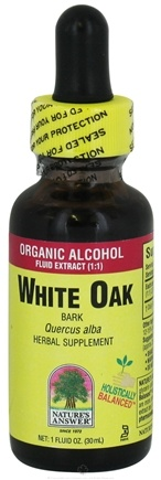 DROPPED: Nature's Answer - White Oak Bark Organic Alcohol - 1 oz. CLEARANCE PRICED