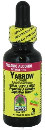 DROPPED: Nature's Answer - Yarrow Flowers Organic Alcohol - 1 oz. CLEARANCE PRICED