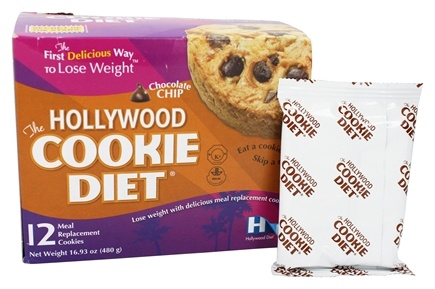 DROPPED: Hollywood Diet - Hollywood Cookie Diet - 12 Cookies Chocolate Chip Flavor