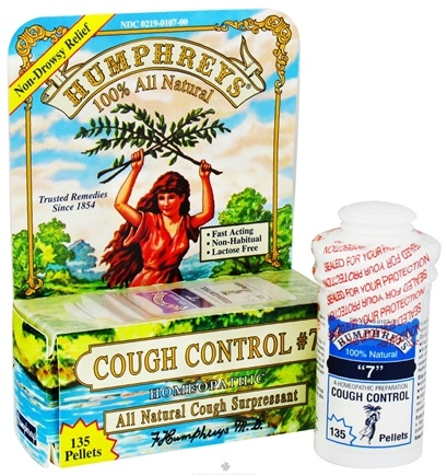 DROPPED: Humphreys - Cough Control #7 - 135 Tablets CLEARANCE PRICED