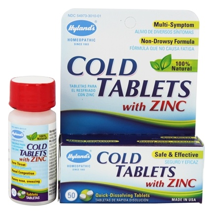 Hylands - Cold Tablets With Zinc - 50 Tablets