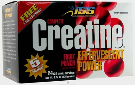DROPPED: ISS Research - Complete Creatine Effervescent Power Fruit Punch - 24 Packet(s)