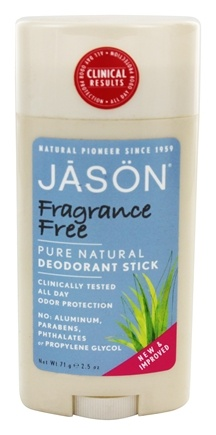Jason Natural Products - Deodorant Stick Fragrance Free - 2.5 oz.