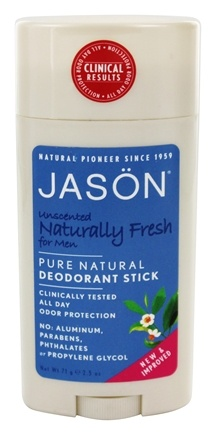 Jason Natural Products - Deodorant Stick For Men Naturally Fresh - 2.5 oz.