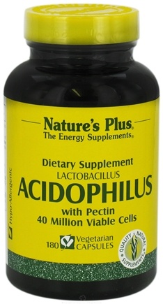 DROPPED: Nature's Plus - Acidophilus Vegicaps - 180 Vegetarian Capsules