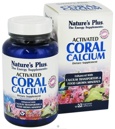 DROPPED: Nature's Plus - Activated Coral Calcium - 90 Vegetarian Capsules CLEARANCE PRICED