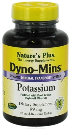 DROPPED: Nature's Plus - Dyno-Mins Potassium 99 mg. - 90 Tablets CLEARANCE PRICED