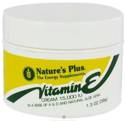 DROPPED: Nature's Plus - Vitamin E Cream 15000 IU - 1.3 oz. CLEARANCE PRICED