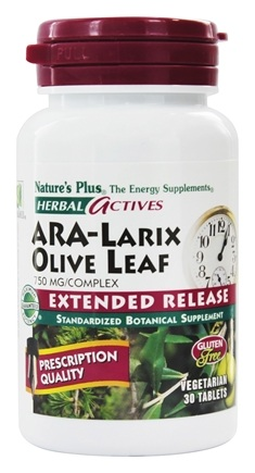 Nature's Plus - Herbal Actives Extended Release Ara-Larix Olive Leaf 750 mg. - 30 Tablets