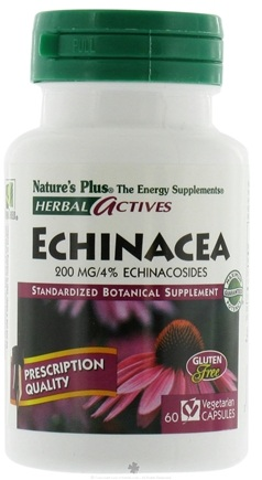 DROPPED: Nature's Plus - Herbal Actives Echinacea 200 mg. - 60 Vegetarian Capsules CLEARANCE PRICED