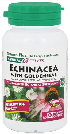 DROPPED: Nature's Plus - Herbal Actives Echinacea/Goldenseal 300 mg. - 60 Vegetarian Capsules CLEARANCE PRICED