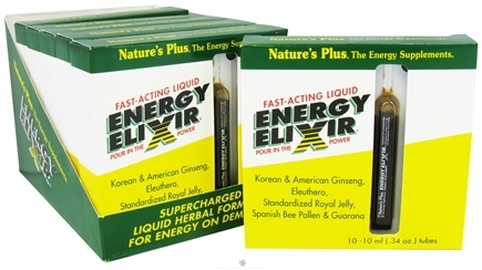 DROPPED: Nature's Plus - Energy Elixir 6 Pack (10 Tubes in each pack!) 10mL Each - 60 Tubes CLEARANCE PRICED