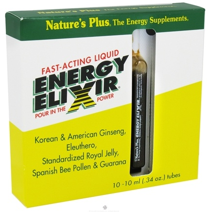 DROPPED: Nature's Plus - Energy Elixir 10 ml - 10 Tubes CLEARANCE PRICED
