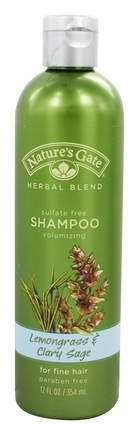Nature's Gate - Shampoo Organics Herbal Blend Volumizing Lemongrass & Clary Sage - 12 oz.