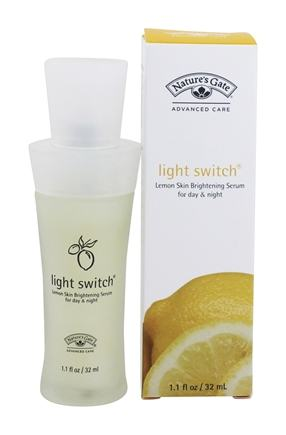 DROPPED: Nature's Gate - Skin Brightening Serum Light Switch Lemon - 1.1 oz.
