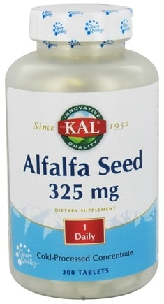 DROPPED: Kal - Alfalfa Seed 325 mg. - 300 Tablets CLEARANCE PRICED