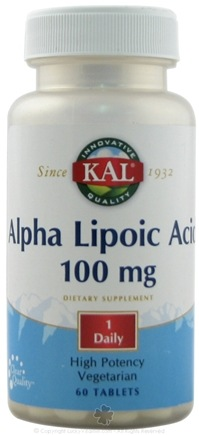 DROPPED: Kal - Alpha Lipoic Acid 100 mg. - 60 Capsules