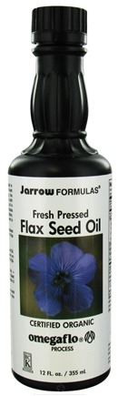 DROPPED: Jarrow Formulas - Flax Seed Oil Fresh Pressed Organic - 12 oz. CLEARANCE PRICED