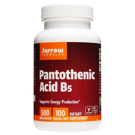 Jarrow Formulas - Pantothenic Acid 500 mg. - 100 Capsules