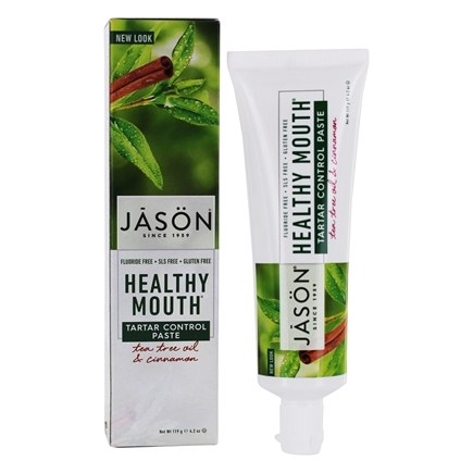 Jason Natural Products - Toothpaste Healthy Mouth Tea Tree Oil Whitening Fluoride-Free - 4 oz.