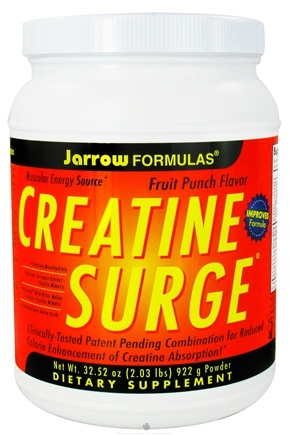 DROPPED: Jarrow Formulas - Creatine Surge Powder Fruit Punch Flavor - 2.03 lbs.