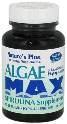 DROPPED: Nature's Plus - Algae Max Spirulina Supplement - 90 Tablets