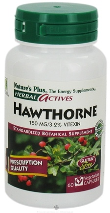 DROPPED: Nature's Plus - Herbal Actives English Hawthorne 150 mg. - 60 Vegetarian Capsules CLEARANCE PRICED