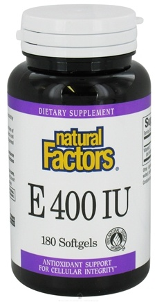 DROPPED: Natural Factors - Vitamin E 100% Natural Source 400 IU - 180 Softgels CLEARANCE PRICED