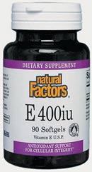 DROPPED: Natural Factors - Vitamin E 400 IU - 60 Softgels