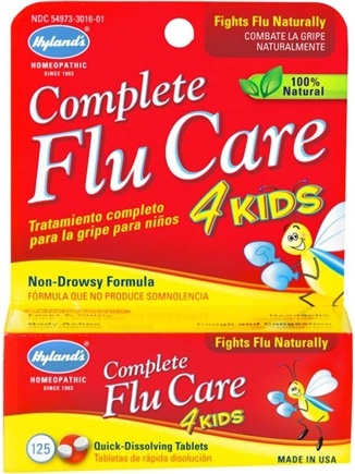 DROPPED: Hylands - Complete Flu Care 4 Kids - 125 Tablets