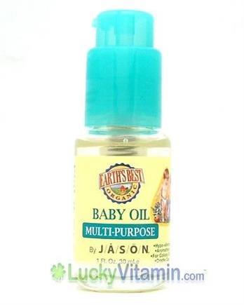 DROPPED: Earth's Best - Organic Baby Oil Multi-Purpose by Jason Natural Products - 1 oz.