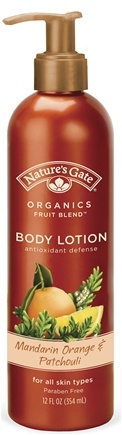 DROPPED: Nature's Gate - Body Lotion Organics Antioxidant Defense Mandarin Orange & Patchouli - 12 oz. CLEARANCE PRICED
