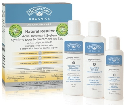 DROPPED: Nature's Gate - Natural Results Acne Treatment System 3 Part Program Advanced Care
