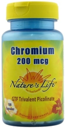 DROPPED: Nature's Life - Chromium 200 mcg. - 100 Capsules CLEARANCE PRICED