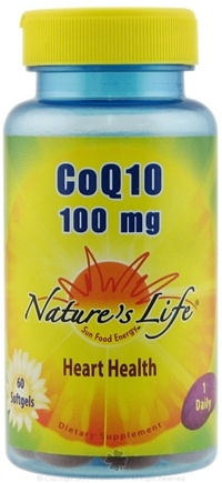 DROPPED: Nature's Life - CoQ10 Heart Health 100 mg. - 60 Softgels