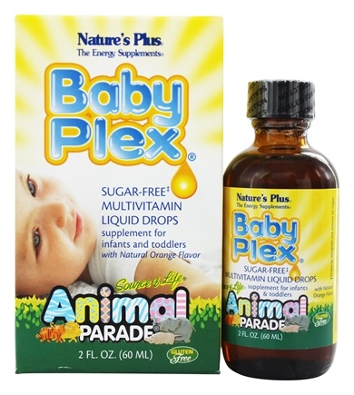 Nature's Plus - Animal Parade Baby Plex Sugar-Free Multivitamin Orange - 2 oz.