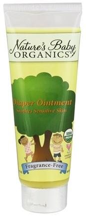 DROPPED: Nature's Baby Organics - Diaper Ointment  Fragrance-Free - 3 oz. Formerly Diaper Cream