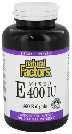 DROPPED: Natural Factors - Vitamin E Mixed 100% Natural Source 400 IU - 360 Softgels