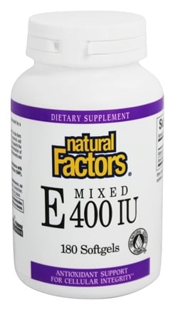 Natural Factors - Vitamin E Mixed 100% Natural Source 400 IU - 180 Softgels