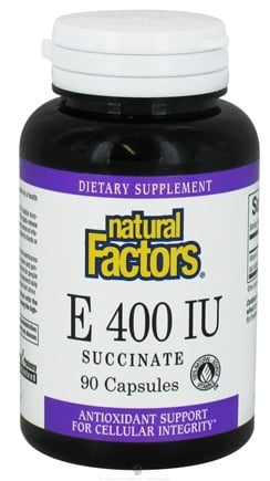 DROPPED: Natural Factors - Vitamin E Succinate 400 IU - 90 Capsules