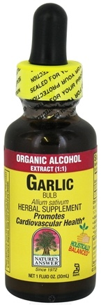 DROPPED: Nature's Answer - Garlic Bulb Organic Alcohol - 1 oz. CLEARANCE PRICED