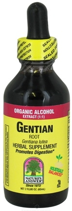 DROPPED: Nature's Answer - Gentian Root Organic Alcohol - 2 oz. CLEARANCED PRICED