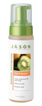 DROPPED: Jason Natural Products - Kiwi & Apricot Volumizing Mousse - 7 oz.