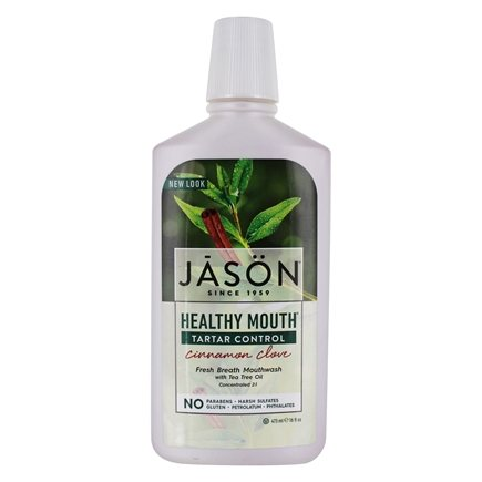 Jason Natural Products - Mouthwash Healthy Mouth Tea Tree & Cinnamon - 16 oz.