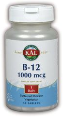 DROPPED: Kal - B-12 Sustained Release 1000 mcg. - 50 Tablets