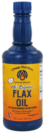 DROPPED: Omega Nutrition - Hi-Lignan Flax Oil Certified Organic - 16 oz.
